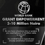Social Exchange Market Grants for Nigeria Application; 2018 World bank N3million Grant